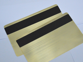 Magnetic strip and gold brushed