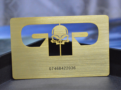 Gold Brushed Metal Card