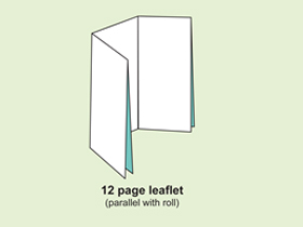 12P leaflet ( parallel with roll )